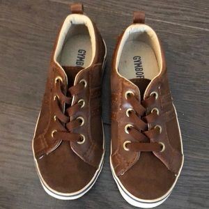 Gymboree boys slip on size 10 brown suede shoes